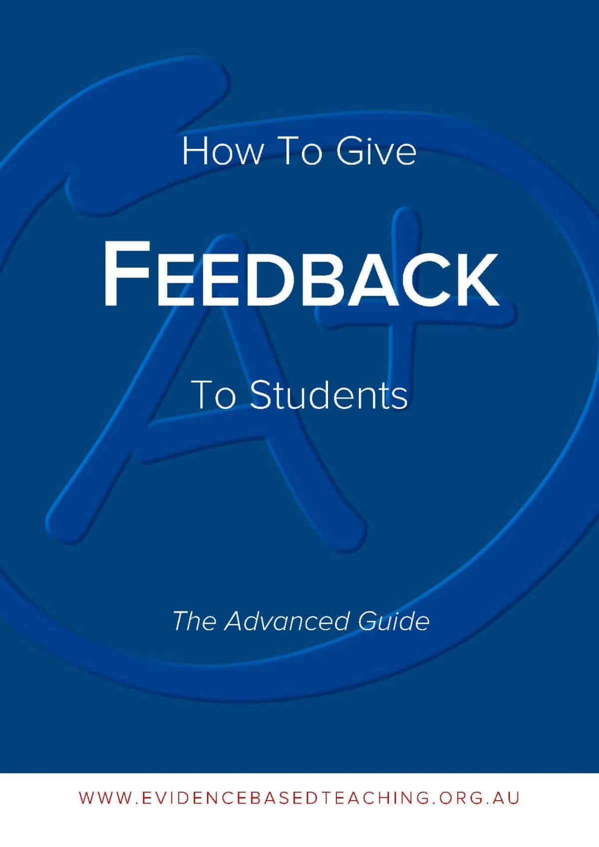 How to Give Feedback to Students cover image - effective feedback