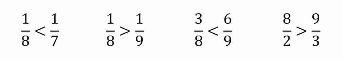 fractions thinking is different examples
