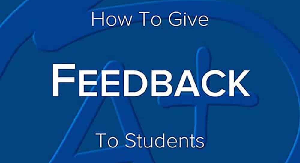 how to give feedback to students by shaun killian